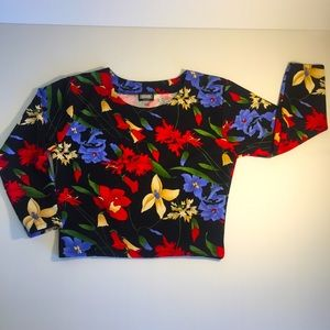 EPISODE sz 10 crop top floral 3/4 sleeves